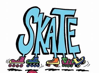 Clip Rink Skates Rollerskating Clipart Skate Rollerama