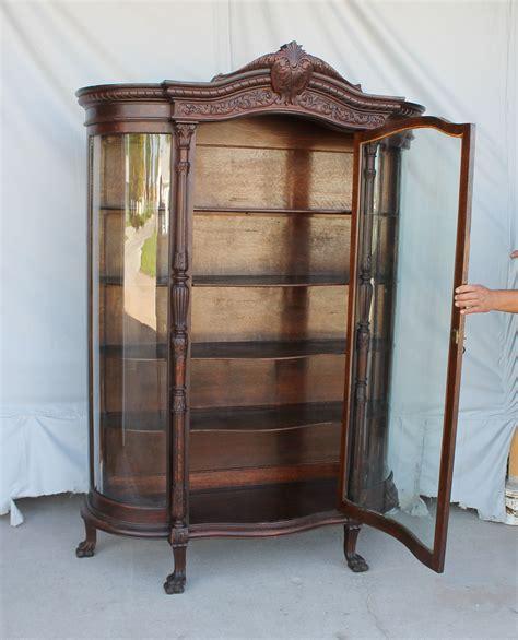 antique china cabinets bargain s antiques antique large oak curved glass