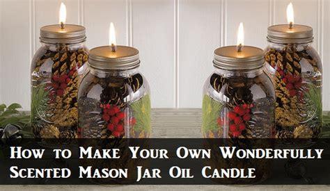 wonderfully scented mason jar oil