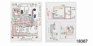 1956 Chevy Laminiated Wiring Diagram  Color