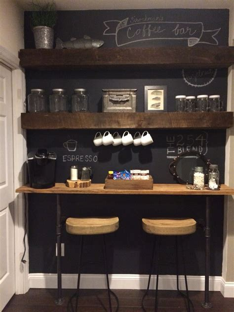 Coffee bars in kitchen coffee bar home home coffee stations old kitchen kitchen ideas kitchen hutch diy coffe bar kitchen small office coffee a diy coffee bar in your home can help you entertain family, friends, loved ones. Coffee bar for a small space. Copy cat of the one on Fixer Upper:)   Coffee Bar   Coffee bar ...