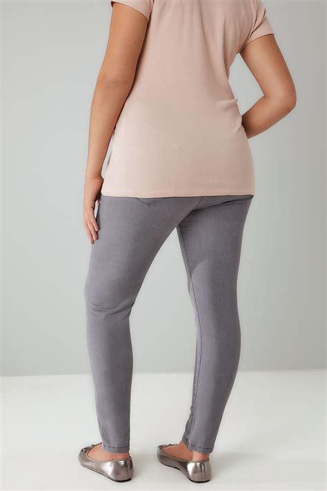 mid grey  pocket skinny ava jeans  size