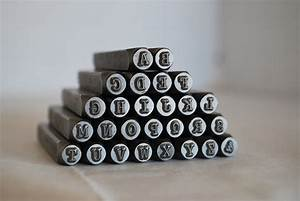 3 mm uppercase typewriter font alphabet letter stamp set With how to stamp metal with letters