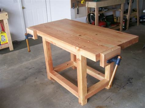 wooden work bench diy woodworking projects