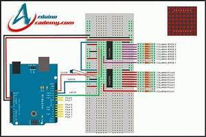 Matriz Led 8x8 Bicolor   74ch595 Con Arduino