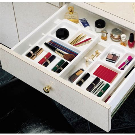 makeup drawer organizer rev a shelf vanity cosmetic drawer organizer kit