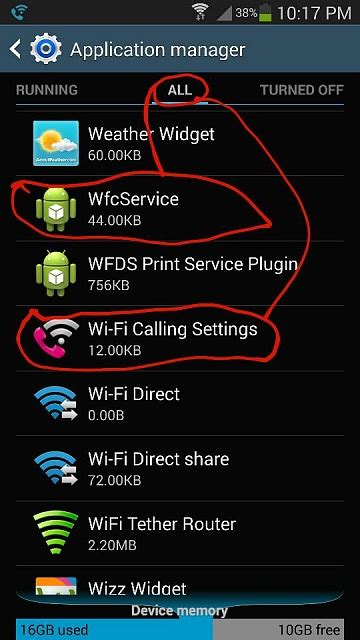 mobile note  disable wifi calling permanently