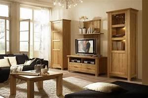 Meuble Salon Bois : meubles de salon en bois massif ~ Teatrodelosmanantiales.com Idées de Décoration
