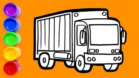 gambar mewarnai truk gambar mobil truk untuk mewarnai
