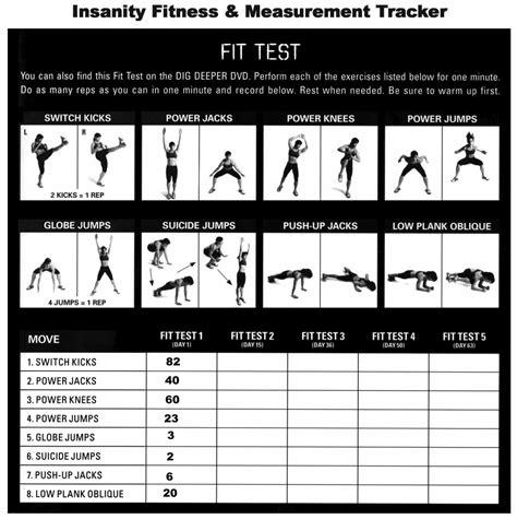 insanity workout calendar health  fitness training