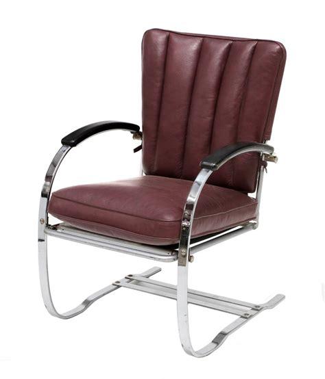 mid century modern leather chrome arm chair august