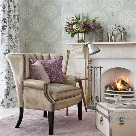 Living Room Wallpaper Lilac by Modern Lilac And Silver Living Room Living Room
