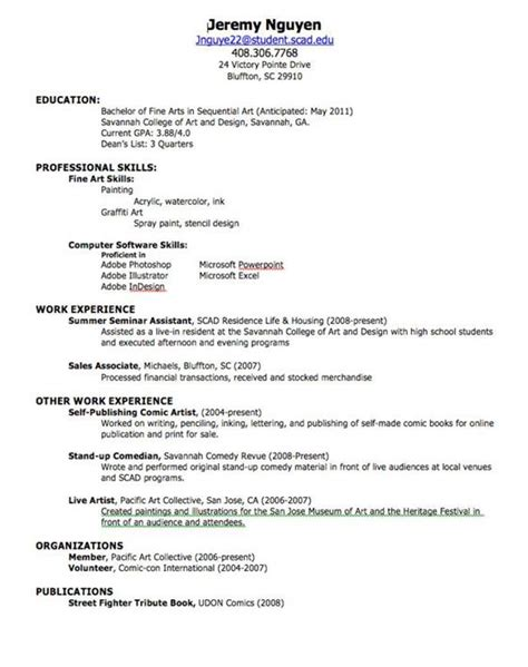 Make A Great Resume by How To Make A Resume