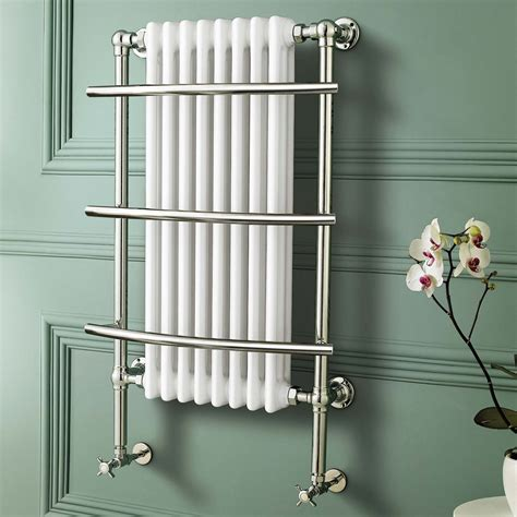 traditional white wall mounted towel rail radiator victoria