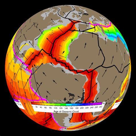 plate movement  million years   today dataset