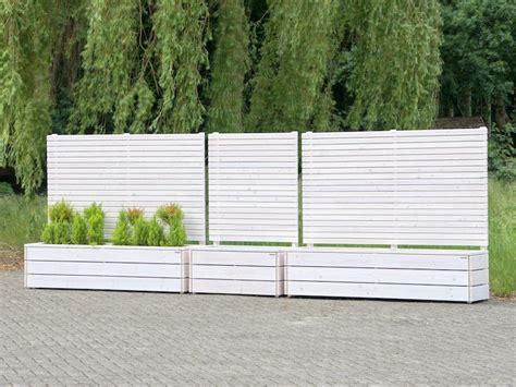 sichtschutz mit pflanzkasten pflanzkasten mit sichtschutz heimisches holz made in germany