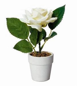 Rose Blanche Artificielle : petit pot rose blanche artificielle d coration de table bapteme ~ Teatrodelosmanantiales.com Idées de Décoration