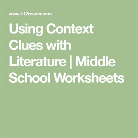 best 25 context clues worksheets ideas on