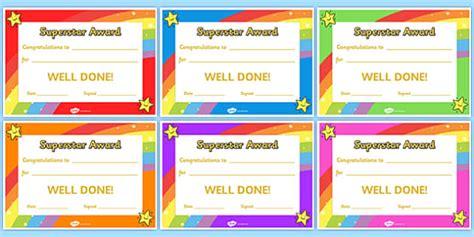super star award certificates super star award certificates