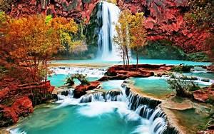 Beautiful, Nature, Forest, House, Autumn, Amazing, Beauty, Waterfall, Landscape, Wallpapers, Hd