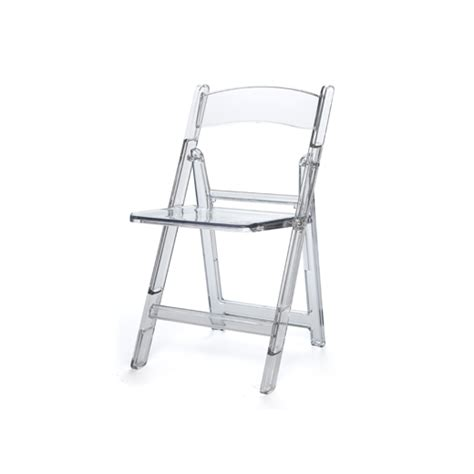 clear folding chair b seated