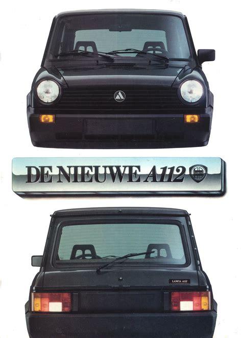 1988 Autobianchi A112 brochure