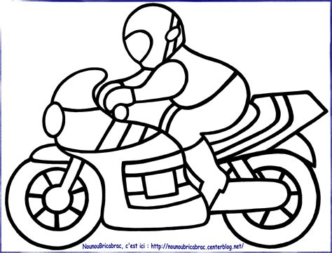 Coloriages Bricabrac Moto à Colorier