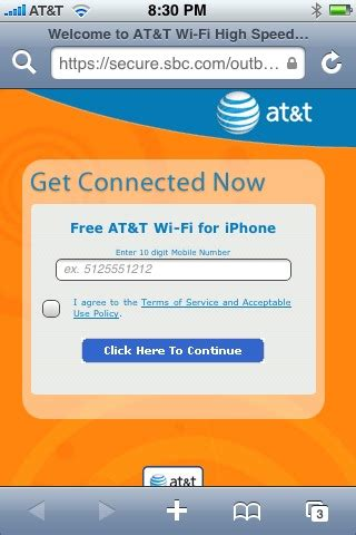 att hotspot iphone at t hotspots bring free wifi for iphone owners updated