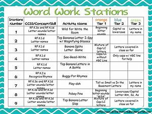 differentiated word work and a freebie kinder daily 5 book With word study lesson plan template