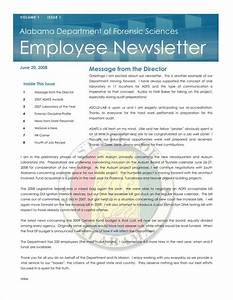 9 sample employee newsletter templates free pdf format for Staff newsletter template
