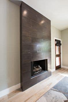 porcelain tile  fireplace wall  return walls