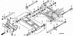 Honda Atv 2012 Oem Parts Diagram For Rear Arm