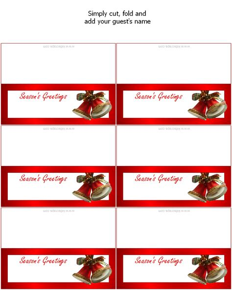 free printable christmas table place cards template 9 best images of printable christmas place cards free