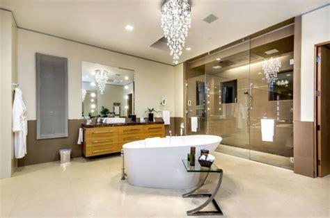 lustre salle de bain le lustre en cristal pour une touche de dans l int 233 rieur archzine fr
