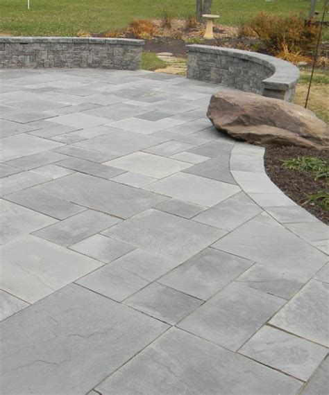 Grey Brick Pavers by Mountain Grey Standard Patio 10416 Overall