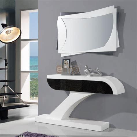 comptoir cuisine ikea console entrée moderne laque bicolore miroir assorti brasilia