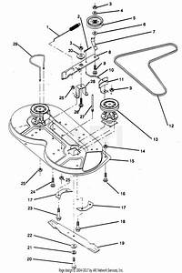 Poulan Pp1236 Tractor Parts Diagram For Mower Deck  Continued