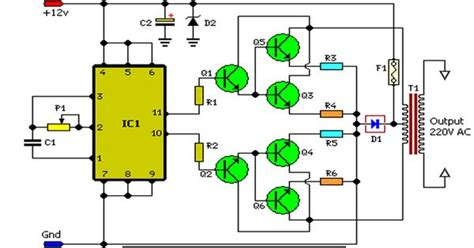 Inverter Circuit Schematic Diagram