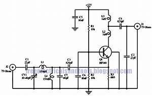 free schematic diagram 15db uhf antenna preamp circuit With uhf tv preamplifier