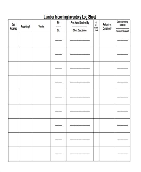 inventory sheet template   samples examples