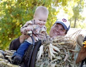 Papas Pumpkin Patch Hours by Lil Guy And Dad On Cornstalk Horse Low Papa S Pumpkin Patch