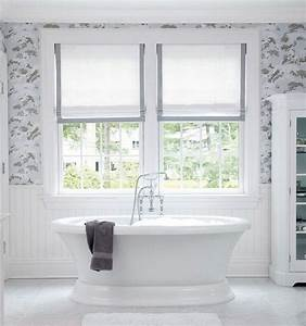 beautiful bathroom will dusty blue and gray and white With 5 basic bathroom window treatments