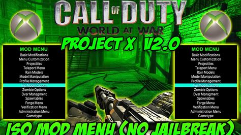 Cod Waw Xbox 360 Mod Menu (no Jailbreak) *iso*