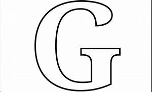 printable letter g coloring page printable alphabet With giant letter g