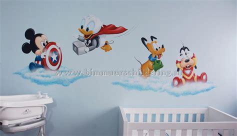 baby disney avengers muurschildering