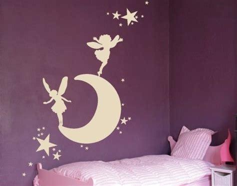Wandtattoo Kinderzimmer Mädchen Prinzessin by Wandtattoo Mond Mit Elfen Kinderzimmer Wandtattoos