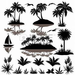 clipart orange palm tree black and white - Clipground
