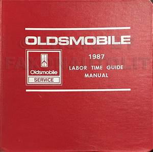 1987 Oldsmobile Toronado  U0026 Trofeo Repair Shop Manual Original