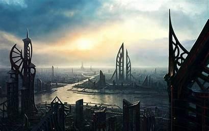 Future Wallpapers Futuristic Background Backgrounds Cities Desktop