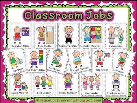 preschool positions classroom printables from peace and learning 866